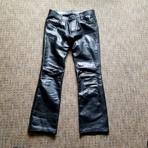 Vintage 50's/60's Butn-Fly ONE PIECE LEATHER Pants